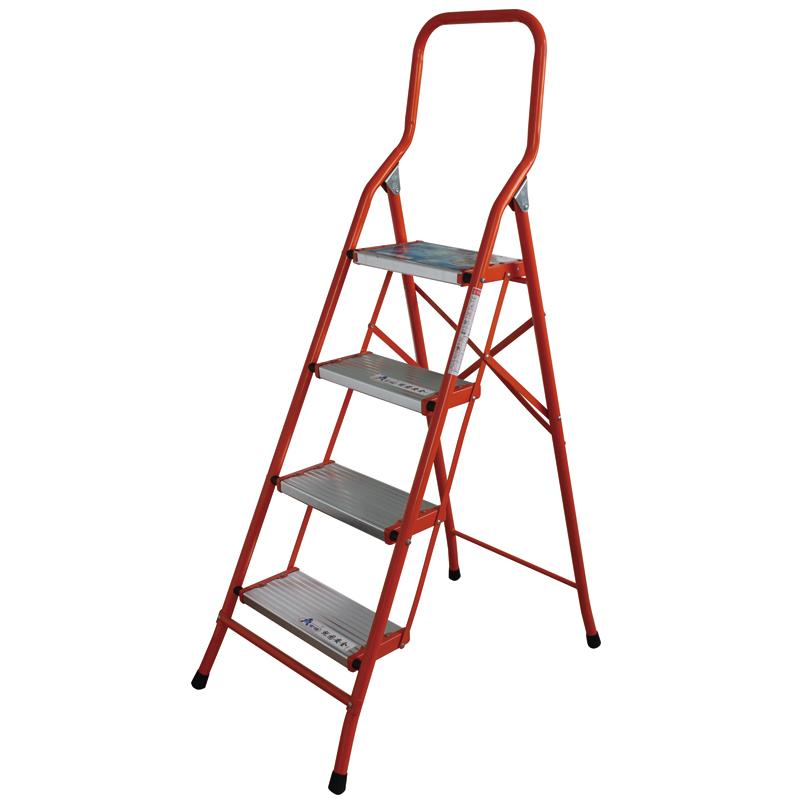 铝合金宽踏板家用铁梯