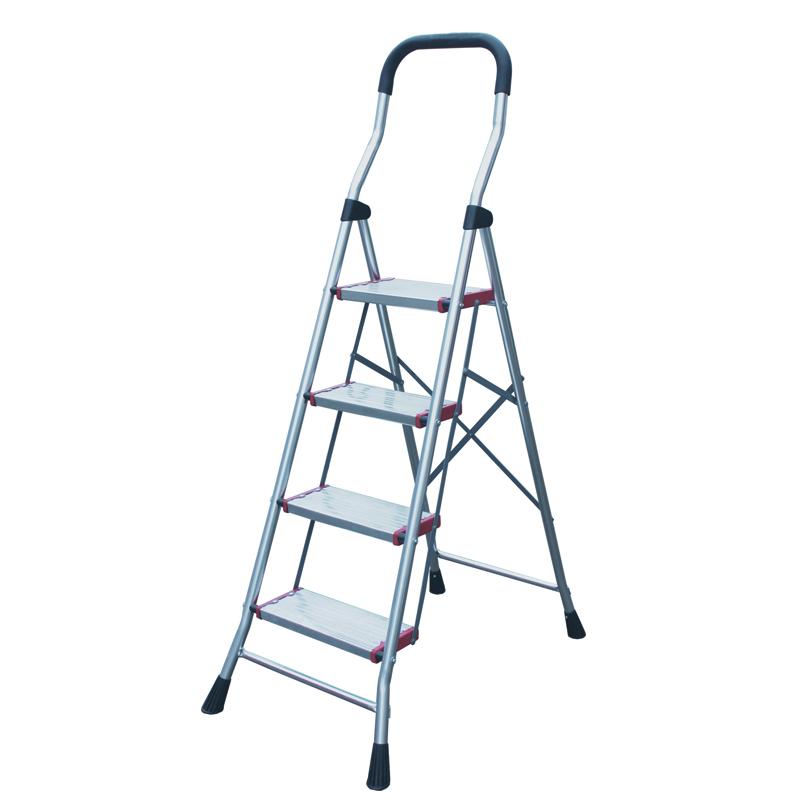 亮光铝合金宽踏板家用梯