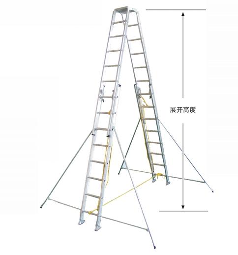 高强度铝合金双升梯