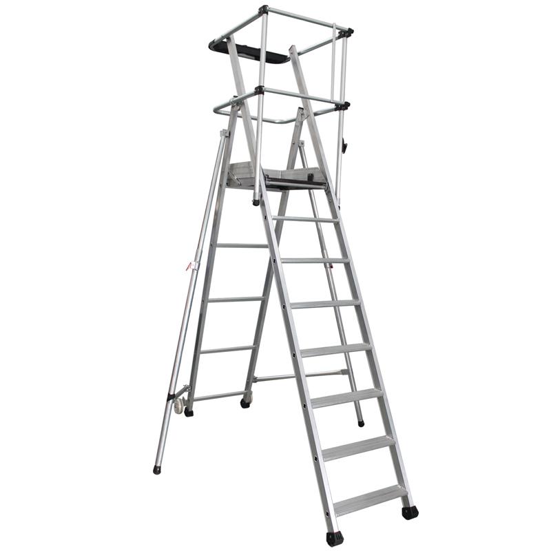 重型铝合金可移动平台梯