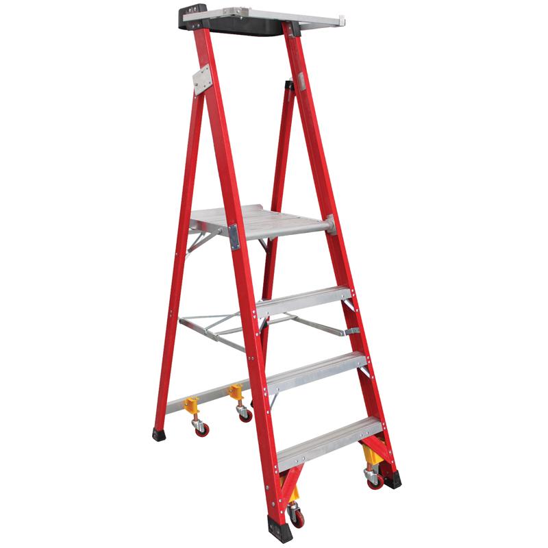 可移动玻璃钢大平台工作梯